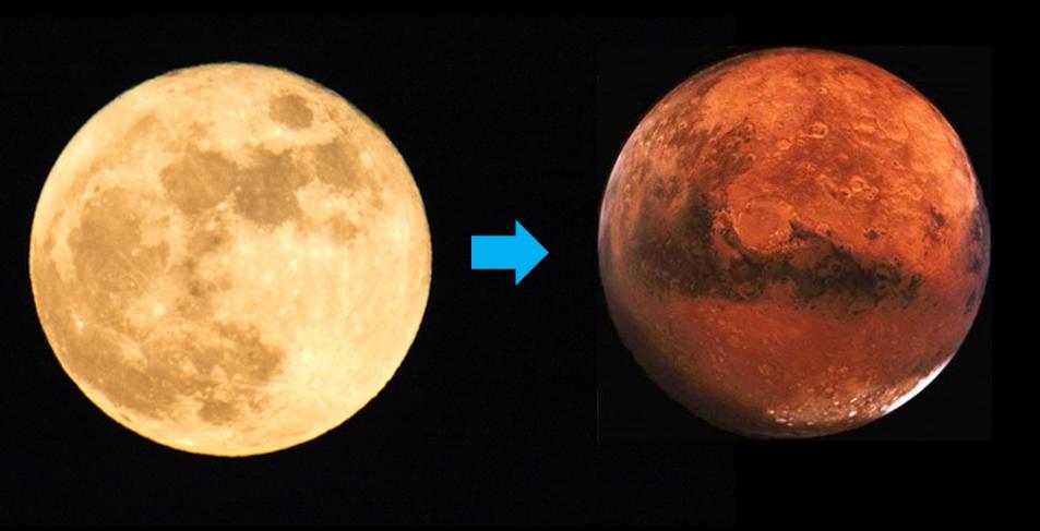 人相が月から火星に変化しているか